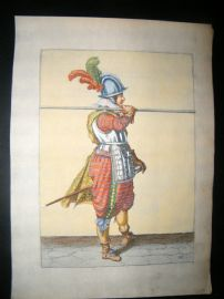 Jacob de Gheyn 1608 Fine Hand Coloured Pikeman Print 26